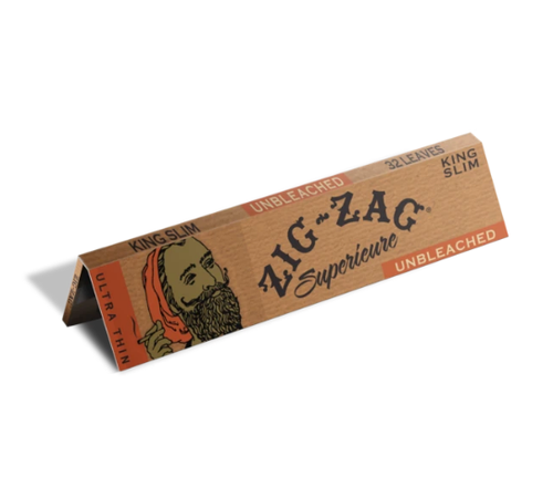ZIG ZAG ROLLING PAPER - UNBLEACHED KING SLIM