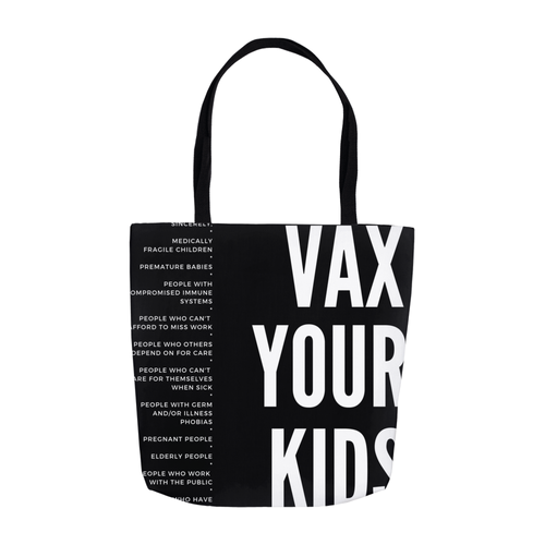 Vax Your Kids Tote Bag, 3 sizes