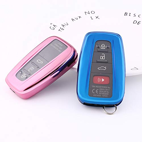 Mofei For Toyota Key Fob Cover - Soft Tpu Key Fob Case Protective Sleeve  Protector Protecting Shell Keyless Remote Control Smart Key Holder Jacket  For