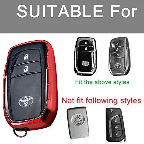 Key Fob Cover With Glitter Liquid Quicksand,Flowing Bling Sparkle Key Fob  Case Fit Keyless Entry Of Toyota Rav4 Crown Hyun Prado Camry Prius Corolla