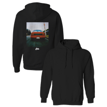 Load image into Gallery viewer, Red Corolla Black Hoodie