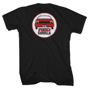 Red Corolla Black Tee