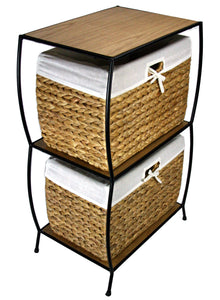 Seagrass Two Drawer File Cabinet