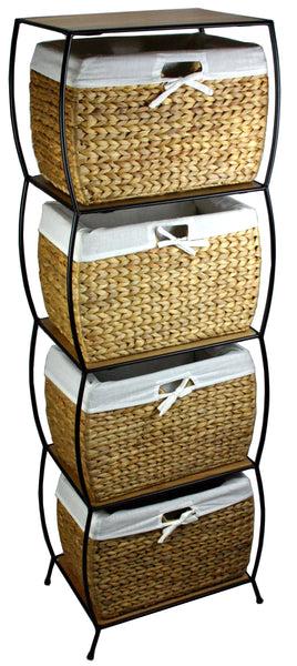 Seagrass Four Drawer File Cabinet