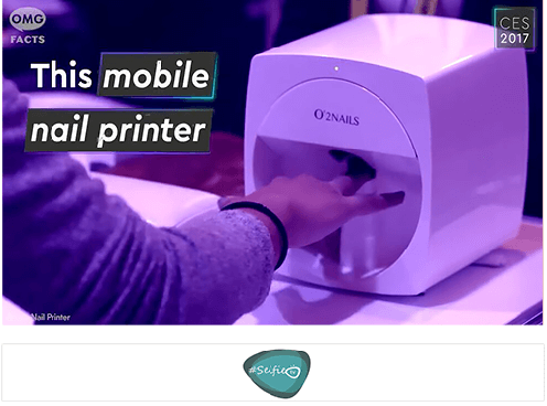 Selfie TV CES 2017: The Most Hi-Tech Nail Printer Ever!