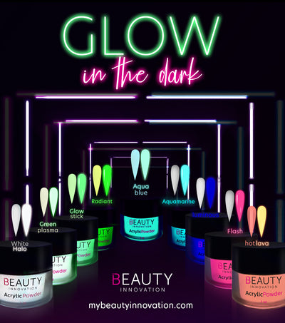 FULL COLLECTION ACRYLIC POWDER - GLOW IN THE DARK