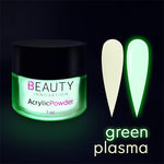ACRYLIC POWDER - GLOW IN THE DARK GREEN PLASMA