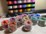50 Full Collection Acrylic Powder 3 in 1 + 2 Glossy Glass (No Wipe Top Coat)