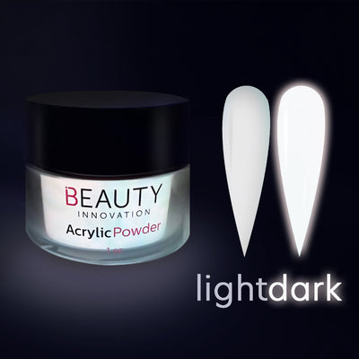 ACRYLIC POWDER - GLOW IN THE DARK WHITE HALO 1 oz