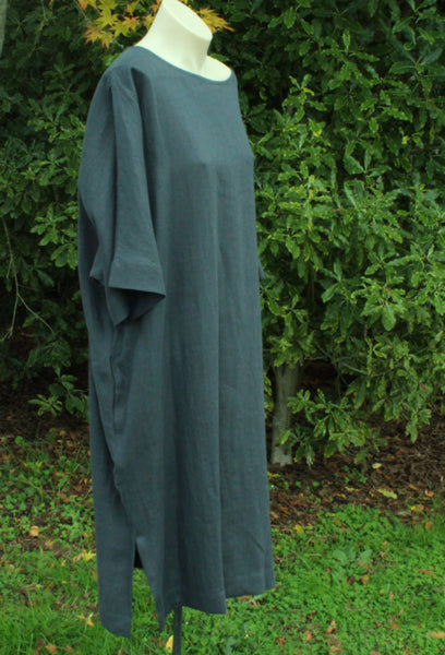 Charcoal Linen Oversize Dress OffOn Clothing