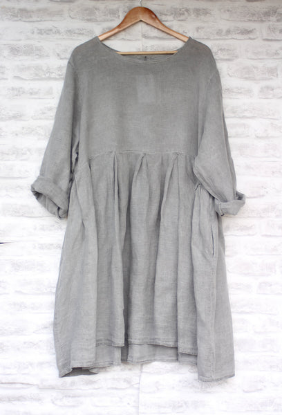 Long Sleeve Linen Dress