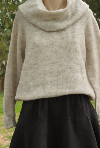 cowl neck jersey mist valley clothing in Stone