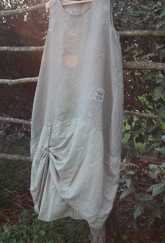Beige Linen Dress Mist Valley Clothing