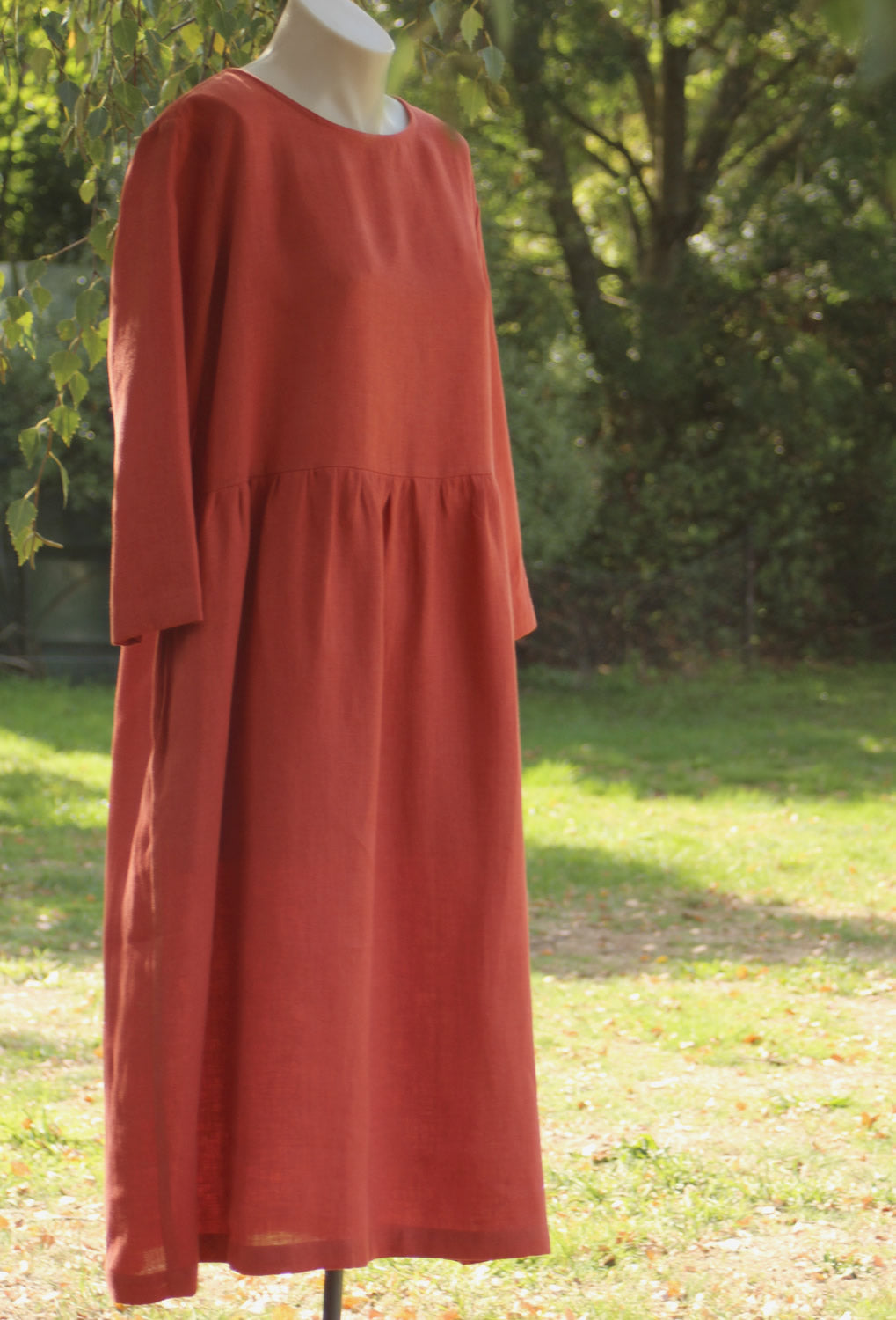 Loose Fit Linen Dress - OffOn Collection