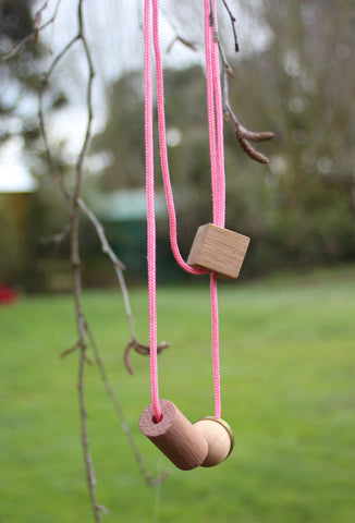 Playing With Blocks Necklace Pink