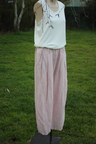 Linen Pleat Pants