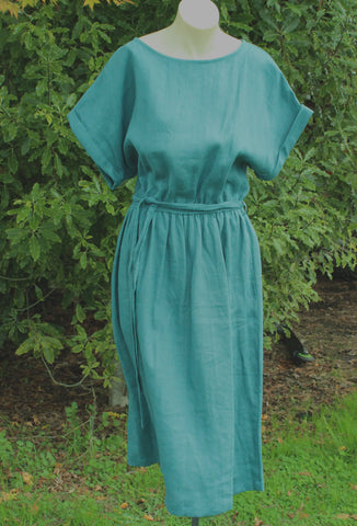 Tie Belt Linen Dress from OffOn Clothing