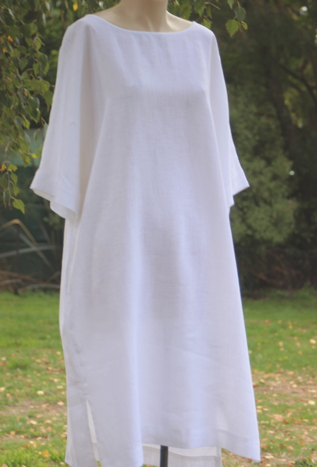 Linen Dress. Oversize fit.  OffOn Clothing