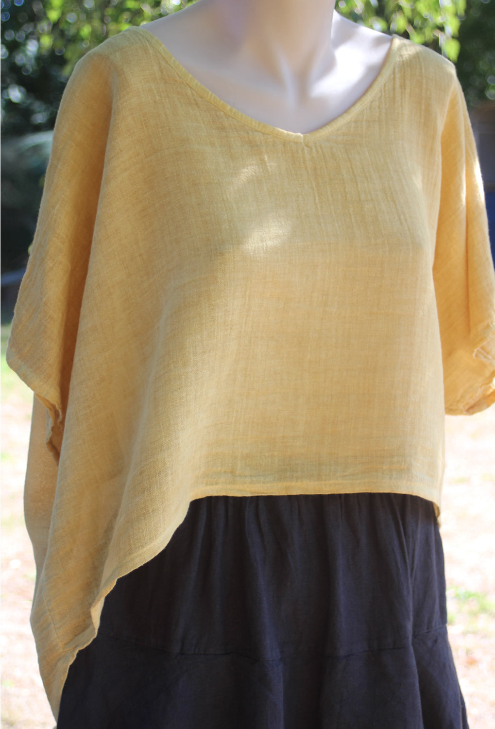 Emily Button Linen Top