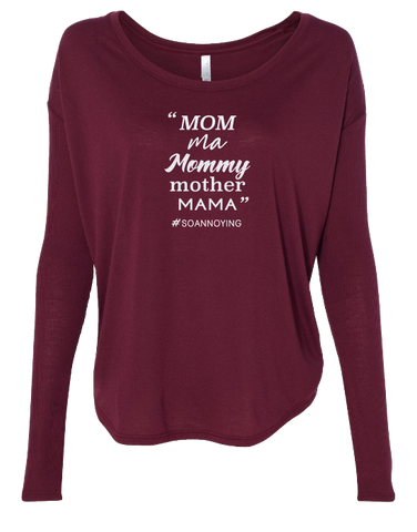 Mom ma Mommy mother MAMA Long Sleeve
