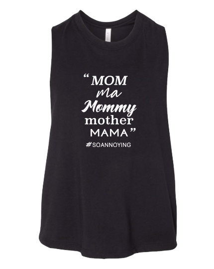 Mom ma Mommy mother MAMA Cropped Tank Top