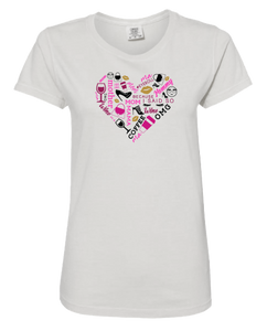 Full Color Heart Collage Short Sleeve