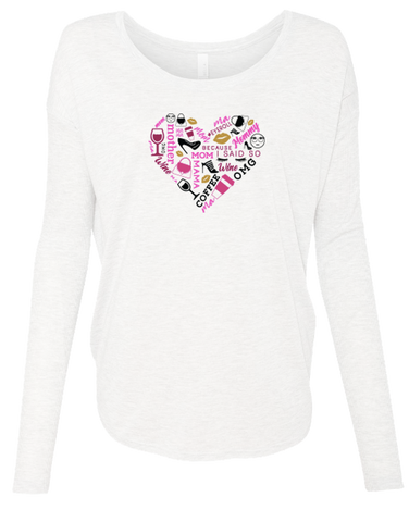Full Color Heart Collage  Long Sleeve