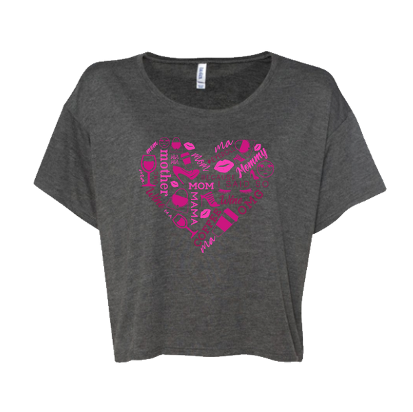 Heart Collage Cropped Tee