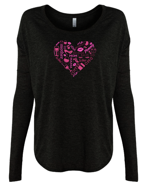 Heart Collage Pink Long Sleeve