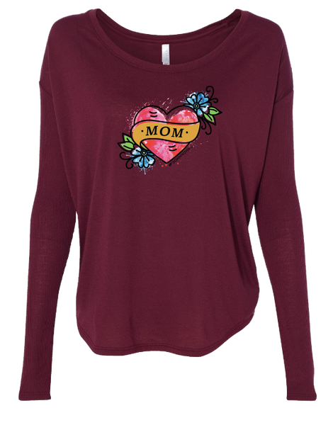Mom Tattoo Long Sleeve