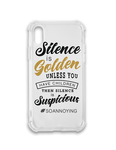 Silence is Golden Phone Case