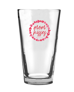 Mom no more kisses Pint Glass