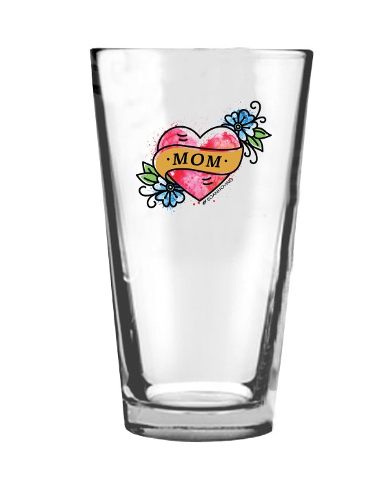 Mom Tattoo Pint Glass