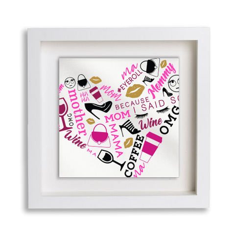 Heart Collage Frame Decor