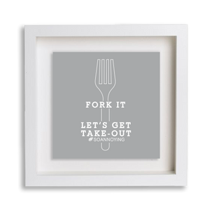 Fork It Frame Decor