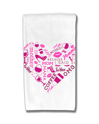Heart Collage Pink Kitchen Towel