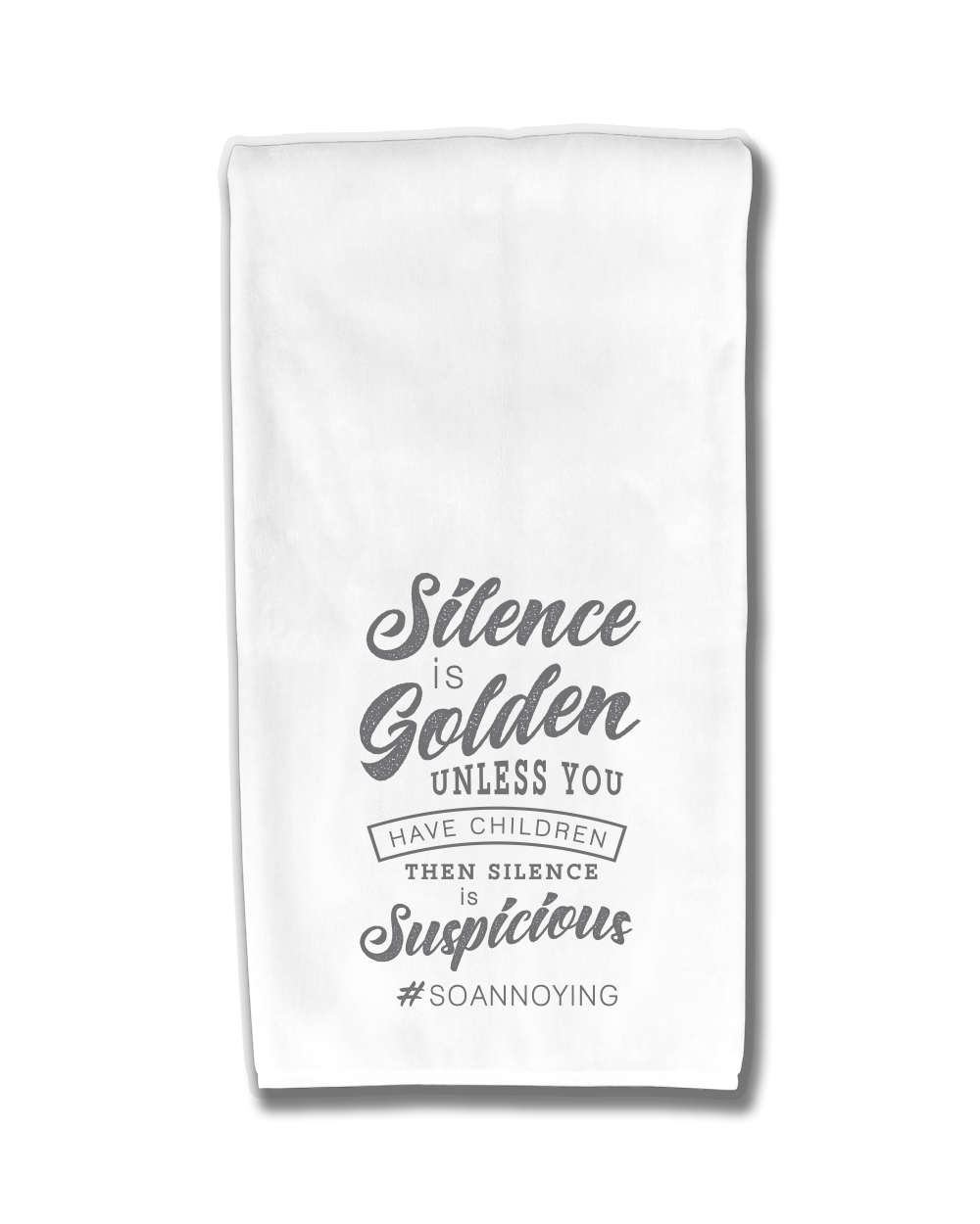 Silence is Golden Kitchen Towel