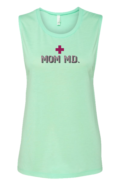 Mom MD Flowy Scoop Neck Tank Top
