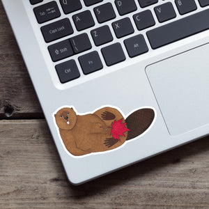 Canadian Beaver Vinyl Sticker