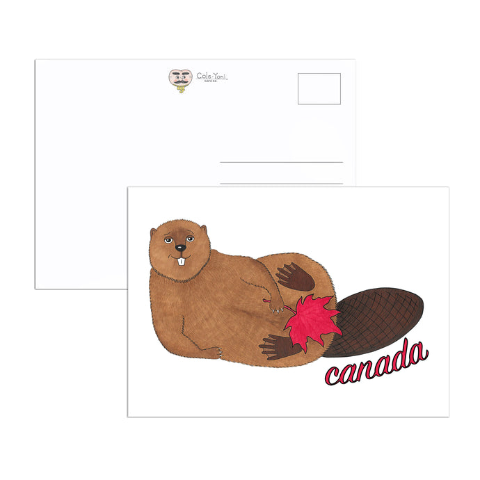 Canadian Beaver 4 Postcard Set