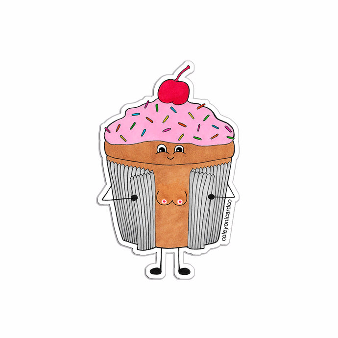 Little Titty Cupcake Vinyl Sticker