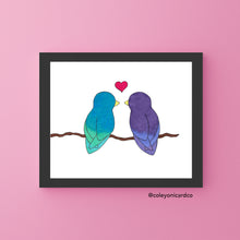 Load image into Gallery viewer, Lovebirds - 8x10 Art Print