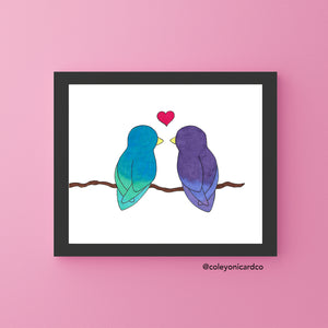 Lovebirds - 8x10 Art Print