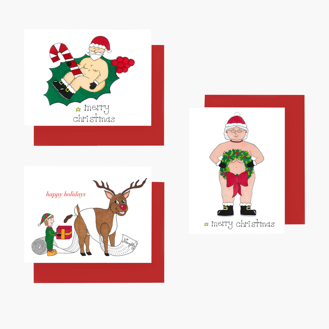 Naughty Holiday Set - 6 Cards