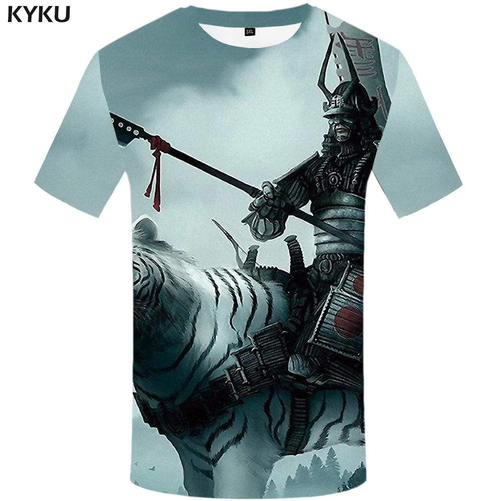 Tiger T-shirts Men Animal T-shirt 3d War Tshirt Anime Character T shirts Funny Metal Tshirts Print Mens Clothing Casual Unisex