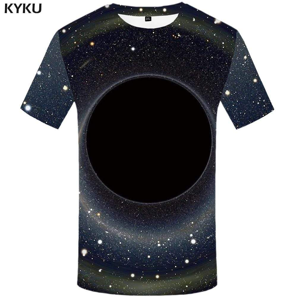 Galaxy Space T-shirts Men Black Hole T shirts Funny Vortex Tshirt Anime Nebula T-shirt 3d Black Tshirts Print Mens Fashion