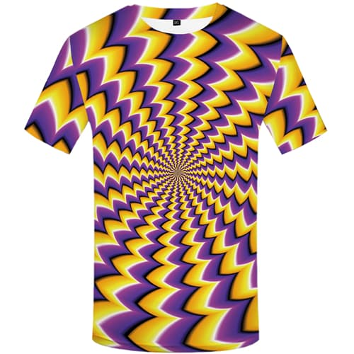 Psychedelic T shirts Men Dizziness Tshirt Printed Colorful Tshirts Casual