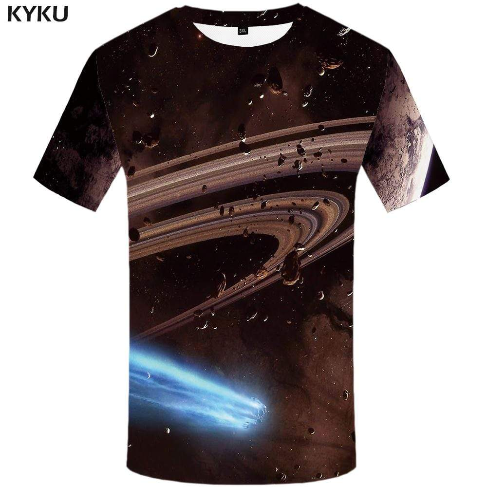 Galaxy Space T shirt Men Swirl Tshirt Anime Meteorite T shirts Funny Gray T-shirt 3d Gothic Tshirts Print Mens Clothing Graphic