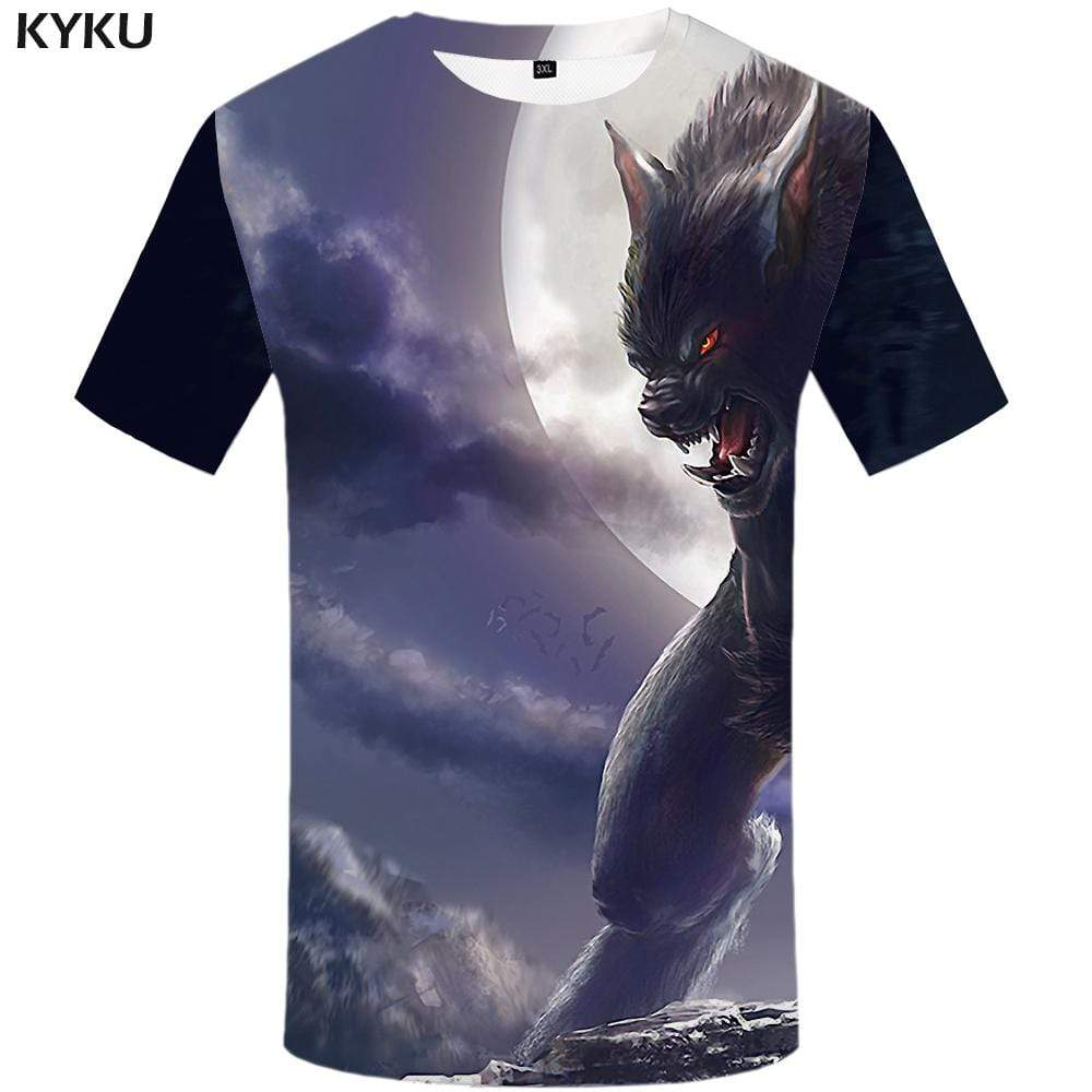 Wolf T-shirts Men Animal Tshirt Anime Character Tshirts Print Forest T-shirt 3d Beauty T shirts Funny Mens Clothing Hip hop