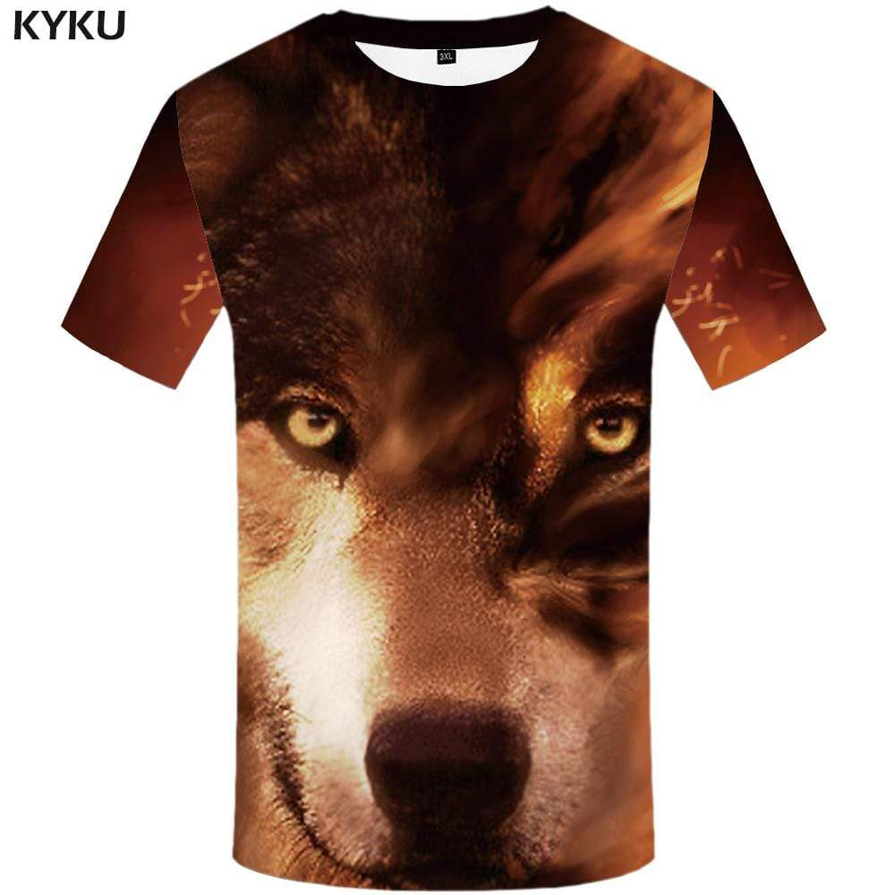 Wolf T shirt Men Animal T-shirt 3d Funny T shirts Funny Harajuku Tshirts Print Tshirt Anime Mens Clothing Short Sleeve Unisex